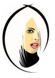 blondin girl2 stock illustrationer