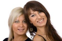 Blondin och brunett Arkivfoton