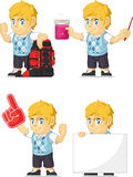 Blondin Rich Boy Customizable Mascot 11 Arkivbild