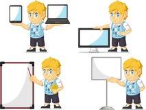 Blondin Rich Boy Customizable Mascot 20 Arkivbild