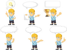 Blondin Rich Boy Customizable Mascot 21 Royaltyfria Foton