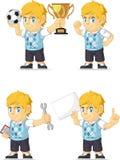 Blondin Rich Boy Customizable Mascot 18 Fotografering för Bildbyråer