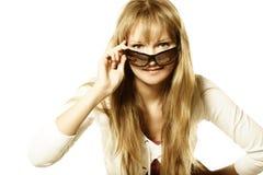 Blondine in den Sonnenbrillen Lizenzfreie Stockbilder