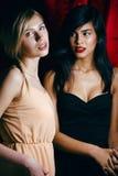 Blondine gegen Brunette, Krieg von Antipoden Lizenzfreie Stockfotos