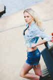 Blondine jungen Mädchens Portert Stockfoto