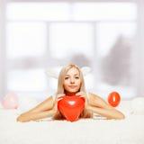 Blondine mit Ballonen Lizenzfreies Stockbild