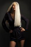 Blondine mit dreadlocks Stockfoto