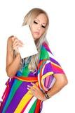 Blondine mit einer Kupplung Lizenzfreie Stockbilder