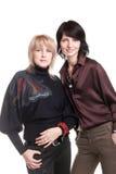 Blondine und Brunette Lizenzfreie Stockfotografie