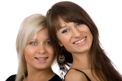 Blondine und Brunette Stockfotos