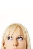 Blondinerecht denken Lizenzfreie Stockfotos