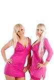 blondinglamour två Arkivfoto