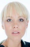 Blondy που προσέχει σας Στοκ εικόνες με δικαίωμα ελεύθερης χρήσης