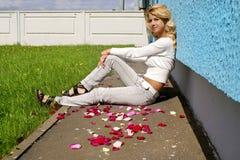 Blondy beautiful girl Stock Photography