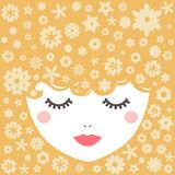 Blondy. Vector illustration. Blondy girl. Vector illustration in flat style Royalty Free Stock Photography