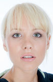 Blondy Watching You Royalty Free Stock Images