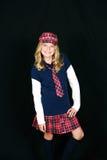 blondynów odzieżowa dziewczyny trochę szkoła Obraz Stock