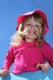 blondynów odzieżowej dziewczyny różowy ja target1559_0_ Fotografia Royalty Free