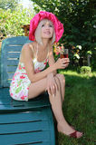 blondynów ogródu target2208_0_ Zdjęcie Stock