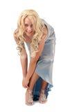 blondynów smokingowa wieczór dziewczyna Obraz Royalty Free