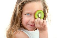 blondynów zakończenia owoc dziewczyny mienie Obraz Royalty Free