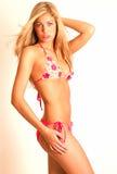 blondyn bikini Obrazy Royalty Free