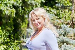 blondyn długo kobieta obrazy stock