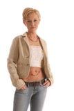 blondyn jacket6 Zdjęcia Royalty Free