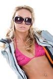 blondynek szkła Obraz Royalty Free