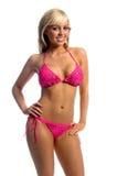 blondynką fusha bikini Fotografia Stock