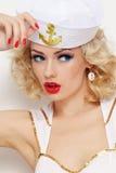 Blondynka żeglarz obrazy royalty free