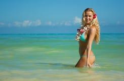 blondynka Hawaii obraz royalty free