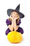 blondynka marzy dyniowej czarownicy Obraz Royalty Free