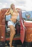 blondynka model Obraz Stock