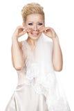 Blondynka płacz fotografia royalty free