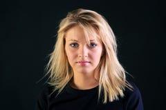 blondynka piękny portret zdjęcie stock