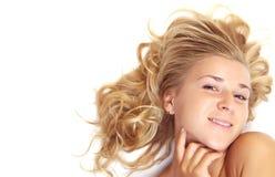 blondynka piękny portret Fotografia Stock
