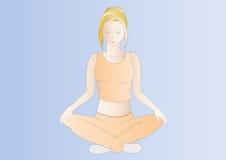 blondynka robi kobiety z włosami joga Obrazy Royalty Free