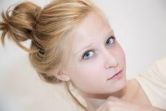 Blondynka włosy babeczka Fotografia Stock