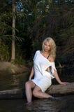 blondynka white Fotografia Stock