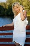 blondynka white Zdjęcia Royalty Free