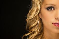 Blondynka Wzorcowy Headshot Zdjęcia Royalty Free