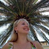 Blondynka z koroną zdjęcie royalty free