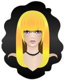 Blondynka z niebieskimi oczami Zdjęcia Stock