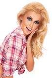 blondynka zaskakująca fotografia royalty free