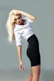 blondynki biznesowej dziewczyny dobry target767_0_ Fotografia Stock
