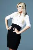 blondynki biznesu dziewczyna zdjęcie stock
