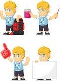 Blondynki Bogatej chłopiec Dostosowana maskotka 11 Fotografia Stock