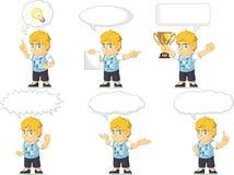 Blondynki Bogatej chłopiec Dostosowana maskotka 21 Zdjęcia Royalty Free