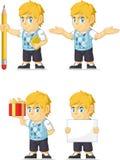 Blondynki Bogatej chłopiec Dostosowana maskotka Zdjęcie Stock